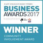 Community invovlement - EADT Business awards winner 2017 Community Involvement