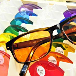 Tinted glasses with different colour