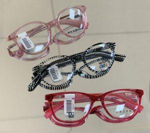 Children's eyecare - three children's frames on display