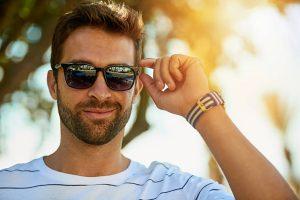 Lenses for sunglasses - man wearing varifocal sunglasses