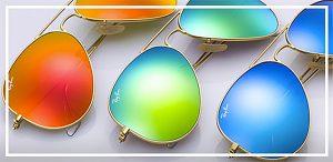Lenses for sunglasses - bright coloured mirrored lenses on sunglasses