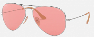 Lenses for sunglasses - pink lenses in a pair of sunglasses