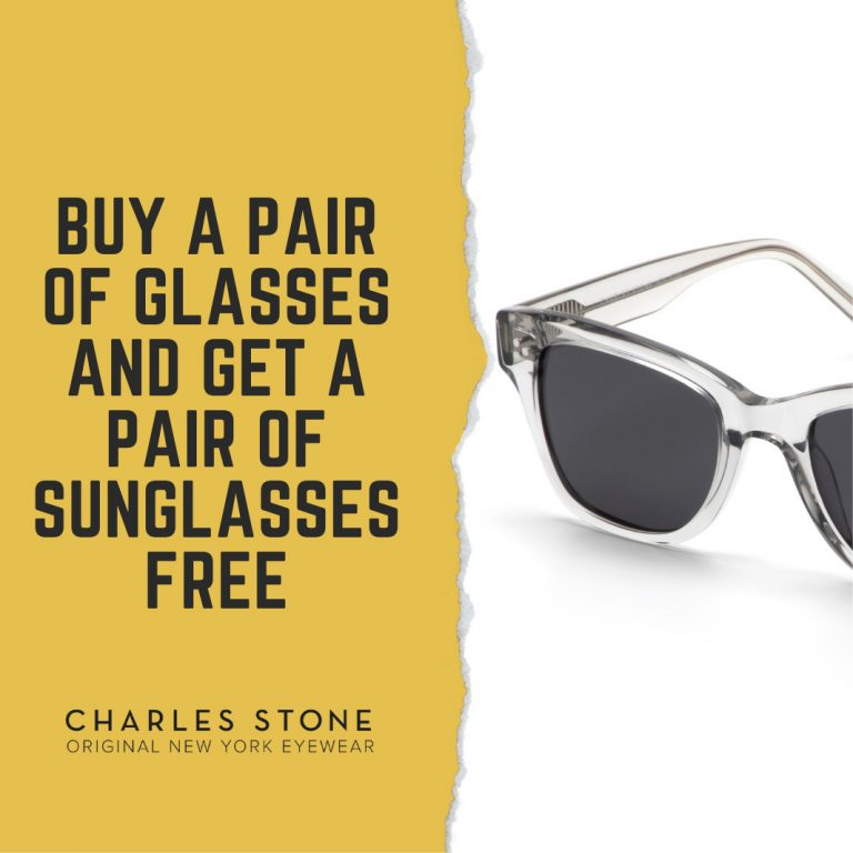 Latest offers - buy a pair of glasses and get a pair of sunglasses for free