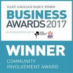 EADT Business Awards winner logo for Community Involvement