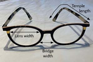 Frame styling and face shape - glasses measurements